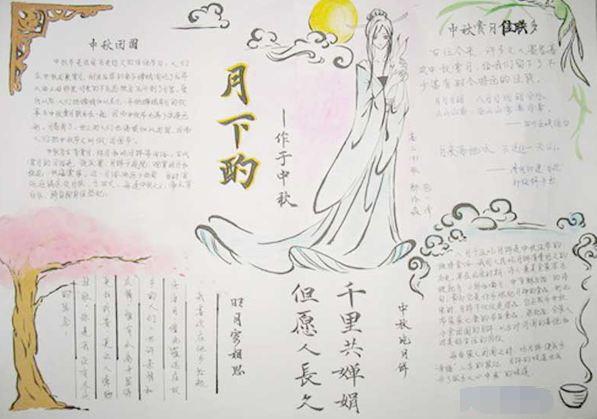 中秋节手抄报4开纸版面设计图大全