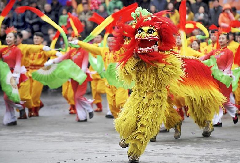 中山开年醒狮队舞狮文化历史悠久